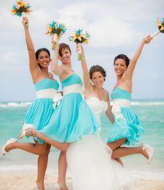 beautiful for a beach wedding! #beachwedding #bridesmaid #wedding