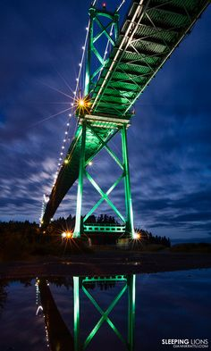 Lions Gate bridge in Vancouver, British Columbia, Canada.  I have crossed this bridge many many times, but have never seen it look like this!