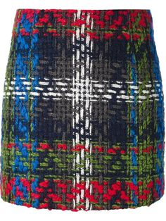 Shop DSQUARED2 plaid pattern knitted skirt in Luisa Boutique from the world's best independent boutiques at farfetch.com. Over 1000 designers from 60 boutiques in one website.