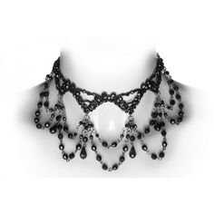Victorian inspired gothic choker made from black beads, by Restyle jewelry - classic and timeless elegance for your neck.