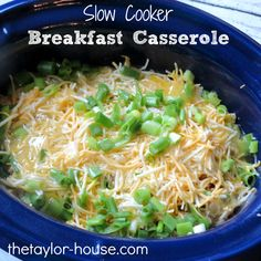 Crock Pot Breakfast Casserole ( put together the night before and it's ready in the morning)