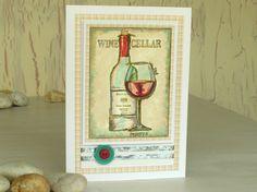 Happy Birthday Male Wine ~ Rugby and red wine my male cards