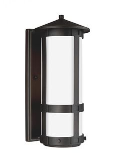 Sea Gull 8535991S-71 - Groveton Small LED Outdoor Wall Lantern in Antique Bronze