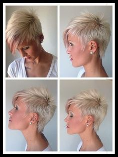Coole kurzhaarfrisuren frauen 2017 - Short Hair Cuts For Women Bobbed Hairstyles With Fringe, Cool Short Hairstyles, Short Pixie Haircuts, Pixie Hairstyles, Short Asymmetrical Hairstyles, Female Hairstyles, Corte Y Color, Hair Photography, Fresh Hair