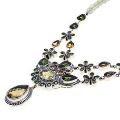 "Nicky Butler Raj 41.70ctw Lemon Quartz and Multigemstone Sterling Silver 17"" Beaded Drop Necklace"