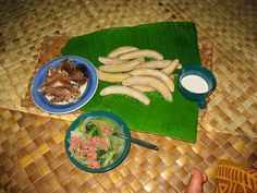 Samoan food!i miss family function and gatherings food always so good when you haven't had it it along time!!