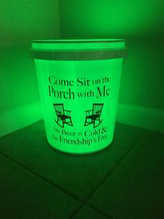 Come Sit on the Porch With Me Bucket with LED Waterproof Camping France, Camping In Maine, Yellowstone Camping, Vinyl Crafts, Vinyl Projects, Circuit Projects, Camping Cornwall, Coleman Camping Stove, Bucket Light