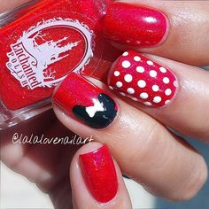 If you're looking for cute Disney nail designs for your next trip to a Disney Park or you just want something heartwarming on your nails, you're at the right place. Disney movies have ability to make us feel happy and full of joy just as Disney Nail Designs, Toe Nail Designs, Cute Nail Art, Easy Nail Art, Disney Parks, Disney Cruise, Disney Trips, Cruise Nails, Mickey Mouse Nails