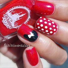 Cute & Simple Minnie Nail Art Design
