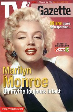 "Marilyn Mag "" TV Régions gazette"" (Fr) 2012 - Marilyn La MM que j'Aime…"