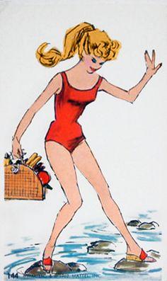 1962 Mattel, Inc. Vintage Barbie Jumbo Trading Card #144