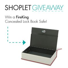 #WIN a FireKing Concealed Lock Book Safe! Just Follow, Repin + leave us a comment on our blog about why protecting your stuff is so very important to you! #GIVEAWAY