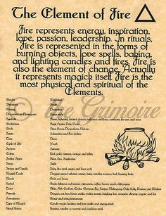 Element of Fire Book of Shadows Spell Page Witchcraft Wicca Pagan BOS Real Spells, Magick Spells, Candle Spells, Magick Book, Green Witchcraft, Banishing Spell, Wiccan Books, Elemental Magic, Wiccan Witch