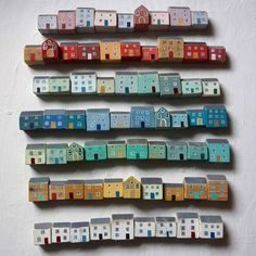 Valériane Leblond I love how its like a whole neighbourhood of houses and how its colour coded
