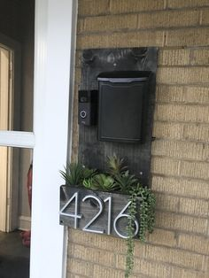 Mailbox On House, Porch Mailbox, Diy Porch, House Front, Virginia House, Condo Remodel, Total Cost, Ring Doorbell, Patio Plants