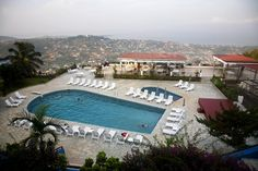 Freetown From Hill Station Sierra Leone Overhead Of Swimming Pool And