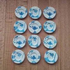 How to make miniature dishes for the dollhouse kitchen Not Eng. but lots of illustrations Source: Mit mini