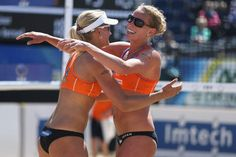 Look at their body language, what a winners. Keizer & Van Iersel 1st time euro champs beach volley.