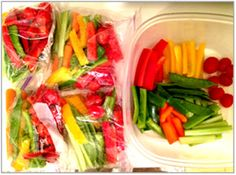 Easy and healthy veggie snack.