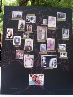 Create a Family Tree with dearest, closest friends. Tree with picture frames Create A Family Tree, Family Trees, Diy Craft Projects, Crafts For Kids, Craft Ideas, Wedding Inspiration, Wedding Ideas, Ancestry, Perfect Wedding