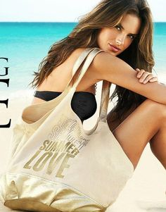 Shop Women's Victoria's Secret size OS Bags at a discounted price at Poshmark. Victoria Secrets, Alessandra Ambrosio, Bikinis, Swimwear, Athletic Tank Tops, Logo Design, Graphic Design, Camisole Top, Cover Up