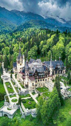 Sinaia - Carpathian Mountains - Romania - Peles Castle - paintings and decoration , Beautiful Castles, Beautiful Buildings, Beautiful Places, Places To Travel, Places To Go, Travel Destinations, Fantasy Castle, Castle House, Palaces