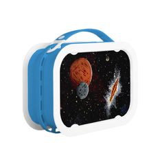 "SPACE (design 7) ""SPACIAL RIFT"" lunch box  Please do NOT hesitate to contact me if you would like any of my designs on a specific product. (AKA: Artmatrix!) Follow John Ocasio, the Artmatrix, on facebook: https://www.facebook.com/John.Ocasio.Artist Original paintings can be found for sale through my Amazon store at: http://www.amazon.com/shops/artmatrix Zazzle designs: http://www.zazzle.com/thewhippingpost?rf=238063263784323237"