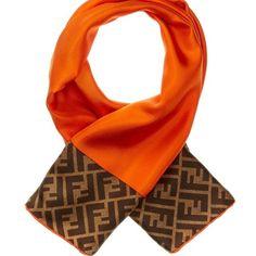 FLASH SALE Fendi Scarf 100% Authentic Fendi scarf. Gorgeous vibrant orange and brown. 100% Silk Made in Italy FENDI Accessories Scarves & Wraps