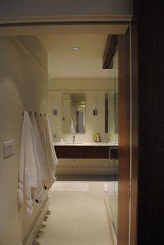 Towel hooks instead of rack. Steur Alverez bathroom - modern - bathroom - portland - Paul McKean architecture llc