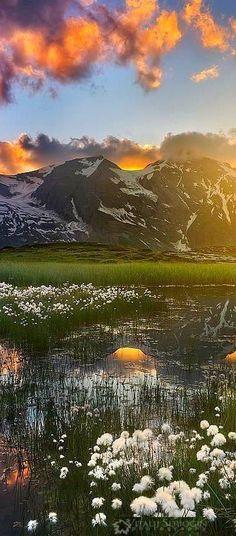 Hohe Tauern National Park, AUSTRIA - mountains sunset clouds landscape nature
