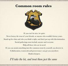 Hufflepuff common room rules