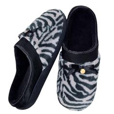 Memory Foam Soft Zebra Print #Slipper | #Avonrep #shoes