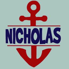Wall Decor Anchor Monogram, Personalized Childrens Wall Decal , Nautical beach art for Kids rooms. $20.00, via Etsy.