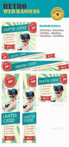 Retro Web Banners Pack Template PSD | Buy and Download: http://graphicriver.net/item/retro-web-banners-pack/2166375?WT.ac=category_thumb&WT.z_author=atma1&ref=ksioks