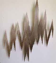Abstract Wall Sculpture by C. Jere In Excellent Condition For Sale In St. Wooden Wall Art, Metal Wall Decor, Wall Sculptures, Sculpture Art, Wall Design, Design Art, Mural Wall Art, 3d Max, Artisanal