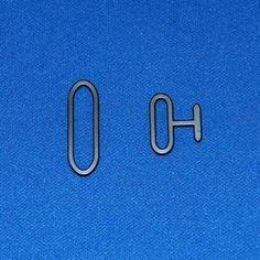 NIKEL BOW TIE HARDWARE 20 Sets (Adjustable Hook Eye ...