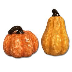 Jaclyn Smith Pumpkin Gourd Salt and Pepper Shakers