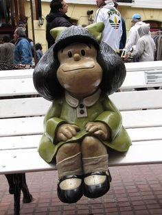 Buenos Aires - Argentina Mafalda de Quino en el paseo de las historietas