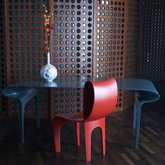 Contour Table & Chair by Bodo Sperlein