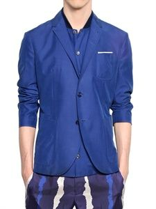 NEIL BARRETT - MODAL CUPRO CANVAS TWO BUTTON JACKET Mens Attire, American English, Neil Barrett, Luxury Shop, Mens Outfitters, Jacket Buttons, Haberdashery, Well Dressed, Florence