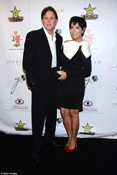 Bruce with ex-wife Kris Jenner, before he revealed he is a transgender woman