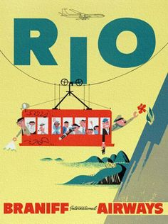 #travelcolorfully vintage rio poster