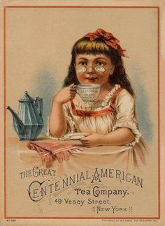 Centennial American Tea Company vintage trade card