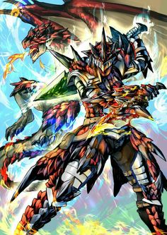 Rathalos VS it's armor and dual blades. Which would the winner?