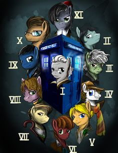 The many faces of Doctor Whooves by D-Lowell.deviantart.com on @deviantART