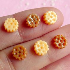 Miniature Biscuit (6pcs) Kawaii Mini Sweets Decoden Cell Phone Deco Dollhouse Biscuit Cabochon Nail Art Nail Deco Earrings NAC033 on Etsy, $1.95