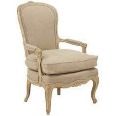 French Louis XV Style Antique Painted Armchair Fauteuil, 19th Century