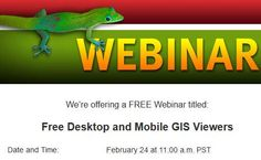 Webinar - LizardTech's Free Desktop and Mobile GIS Viewers