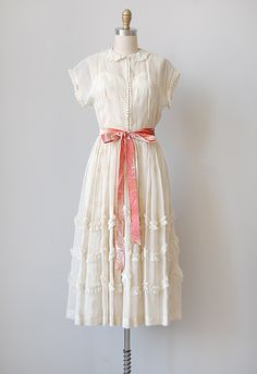 vintage 1940s white organza party dress I don't have anywhere to ...