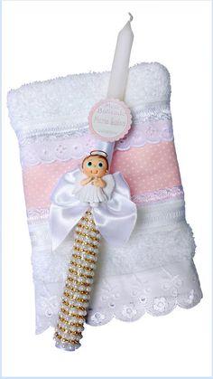 Vela decorada para batizado menina - Ovelhinha de Algodão-12.115.403/0001-65                                                                                                                                                      Mais